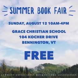 Vermont Summer Book & Ephemera Fair