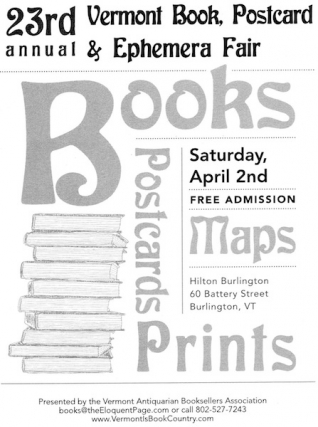 Vermont Antiquarian Booksellers Association Book & Ephemera Fair