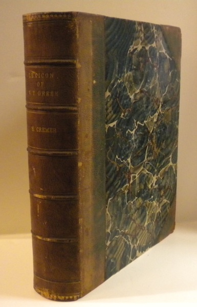 Biblico-Theological Lexicon of New Testament Greek. Hermann Cremer.