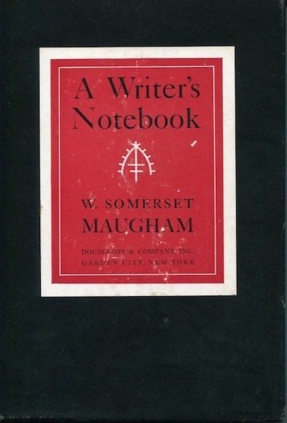 A Writers Notebook W Somerset Maugham First American Edition