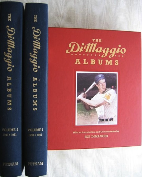 The Dimaggio Albums; Selections from Public and Private Collections Celebrating the Baseball Career of Joe DiMaggio; Volume 1: 1932-1941; Volume 2: 1942-1951. With an Introduction and Commentaries by Joe Dimaggio. Richard Whittingham, Compiler and.