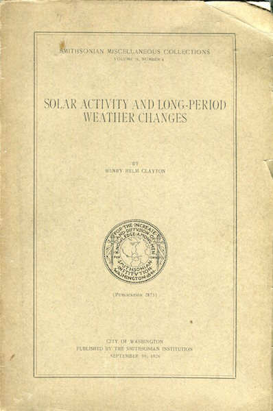 Solar Activity and Long-Period Weather Changes. Henry Helm Clayton.
