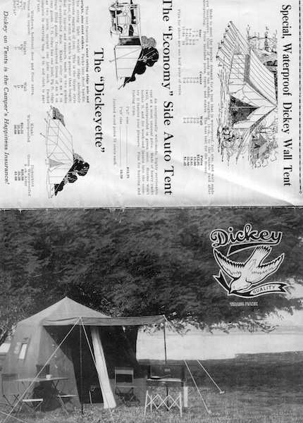 Dickey Tents, Camping Gear. Dickey Manufacturing Co.