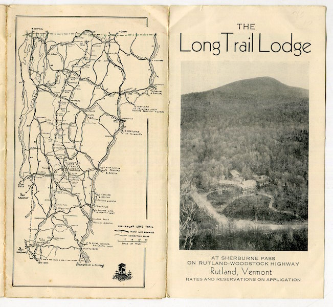 The Long Trail Lodge At Sherburne Pass On Rutland - Woodstock Highway; The Home of the Green Mountain Club. Green Mountain Club.