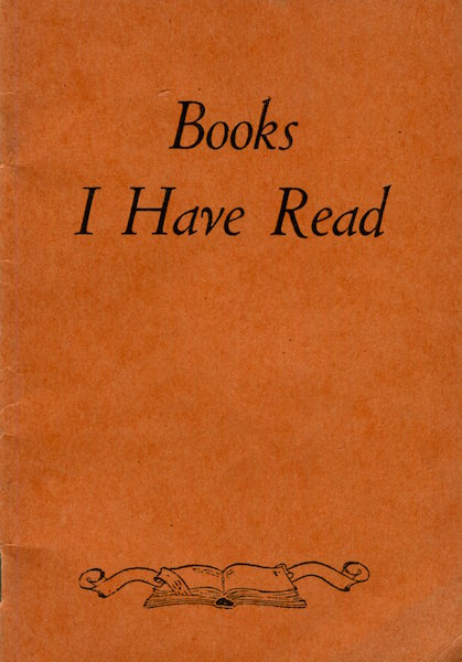 Books I Have Read, A Reader's Journal. Gaylord Bros. Inc.
