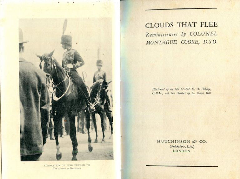 Clouds That Flee; Reminiscences By Colonel Montague Cooke. Colonel Montague Cooke.