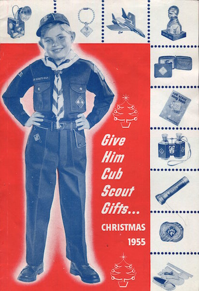 Give Him Cub Scout Gifts ... Christmas 1955. Boy Scouts Of America.