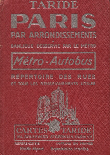 (Modele Depose) Plan - Guide De Paris (Removing Model, Map & Guide to Paris) Index To Streets - Metros - Bus