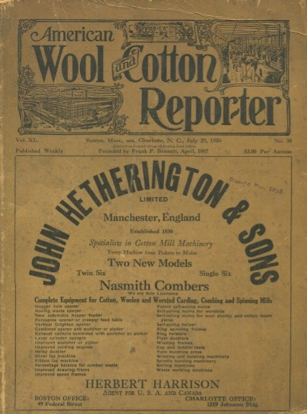 American Wool And Cotton Reporter
