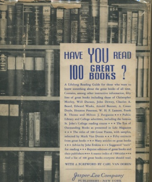 Have You Read 100 Great Books?; Dedicated To The Public Libraries of America .....