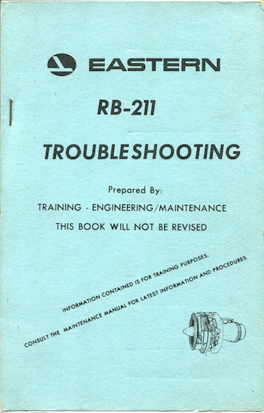 Eastern RB-211 Troubleshooting. Eastern Airlines.