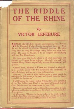 The Riddle of the Rhine: Chemical Strategy in Peace and War. Victor Lefebure.