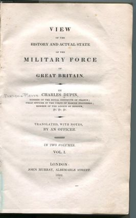 View Of The History and Actual State of the Military Force of Great Britain; Translated, With...