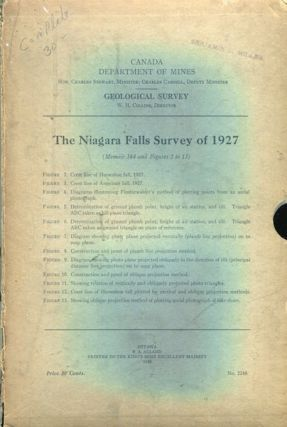 The Niagara Falls Survey of 1927, Memoir 164. Boyd W. H