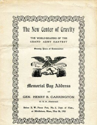 The New Center Of Gravity; The World-Reapers Of The Grand Army Harvest; Seventy Years of...
