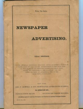 Newspaper Advertising In The American Newspaper Directory…. Newspapers