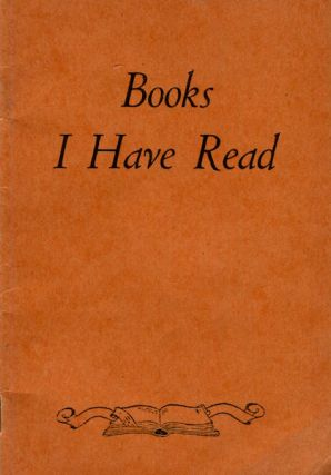 Books I Have Read, A Reader's Journal. Gaylord Bros. Inc