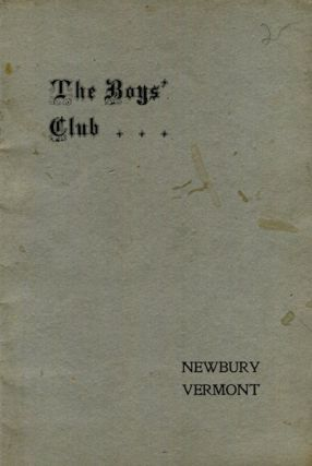 The Boy's Club Of The First Congregational Church, Newbury, Vermont 1905