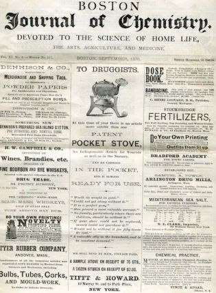 Science) Boston Journal Of Chemistry; Devoted To The Science Of Home Life, The Arts, Agriculture...