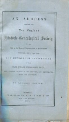 Address Before the New England Historic-Genealogical Society, in the Hall of the House of...