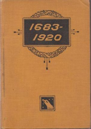 "1683-1920"" the Fourteen Points and What Became of Them...Foreign Propaganda in the Public Schools...Rewriting the History of the United States...The of 1683 and a Thousand Other Topics. Schrader Frederick Franklin."