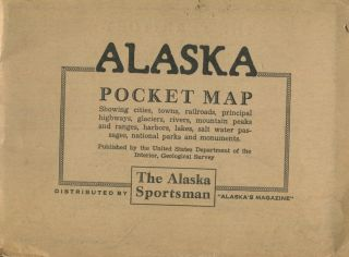Territory of Alaska Pocket Map; showing cities, towns, railroads, principal highways, glaciers,...