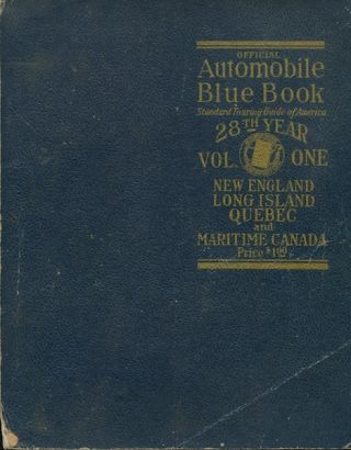 Official Automobile Blue Book (1928) Volume One: New England, Long Island, Quebec & Maritime Canada
