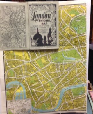 London Pictorial Map; The Streets Are Clearly Shown And Named With The Latest Alterations And...