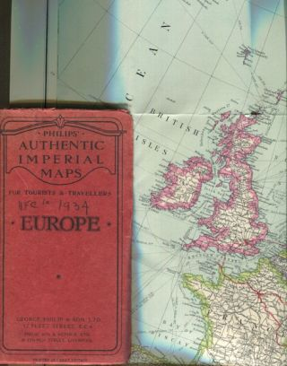 Philips' Authentic Imperial Maps For Tourists And Travellers, Europe. George Philip