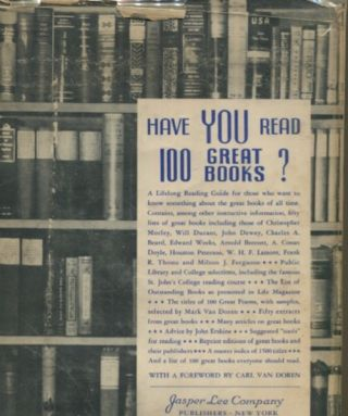 Have You Read 100 Great Books?; Dedicated To The Public Libraries of America